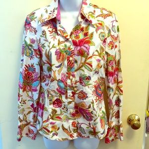 Hilfiger size 8 cotton flower print blouse